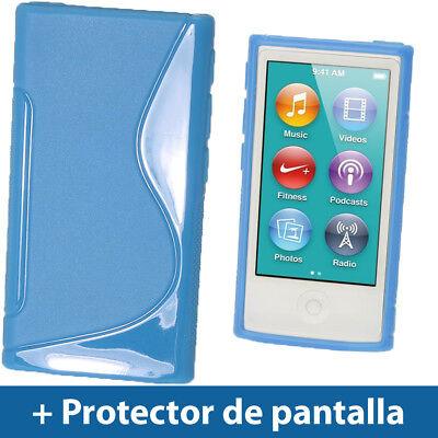 Azul Case TPU Gel para Nuevo Apple iPod Nano 7ª Generación 7G TPU Funda Cover