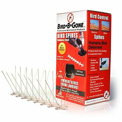 "Bird B Gone MM2001-5/6 Stainless Steel Bird Spikes, 5"" x 6'"