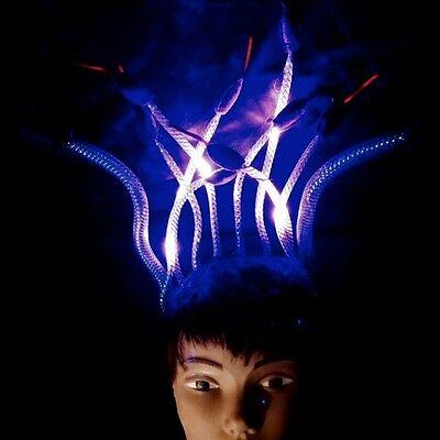 LED Light Up Medusa Snake Charmer Head Piece - Great for Halloween