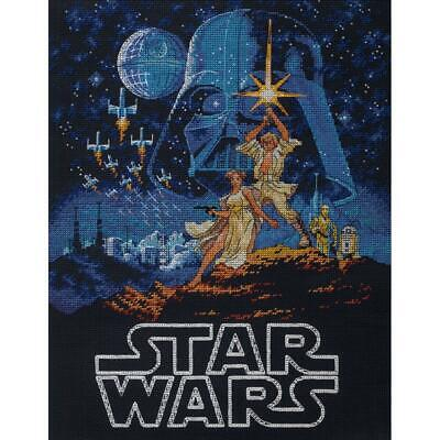 Dimensions Disney Star Wars Counted Cross Stitch Kit Luke & Princess Leia NEW Disney Counted Cross Stitch