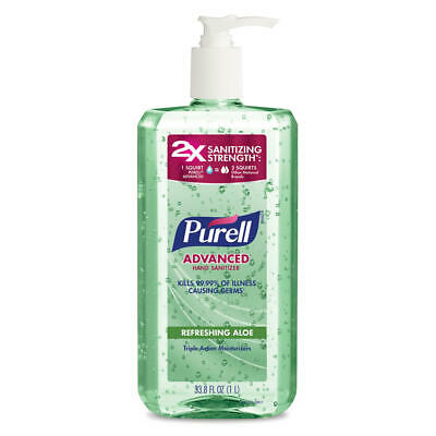 PURELL Advanced Hand Sanitizer Soothing Gel Aloe Vitamin E 33.8 fl oz EXP 2023