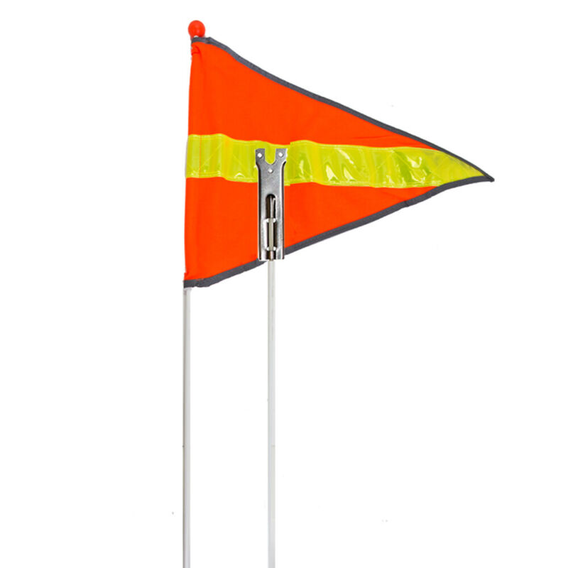 Sunlite Bicycle Deluxe Safety Flag Reflective Orange 72in w/ Axle Mount 2-Piece