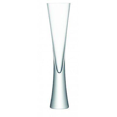 LSA MOYA CHAMPAGNE FLUTES SET OF 2 MODERN GLASSES DESIGNER NEW IN BOX