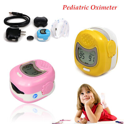 Pediatric Finger Pulse Oximeter Kids Children Spo2 Oximetry Blood Oxygen Monitor