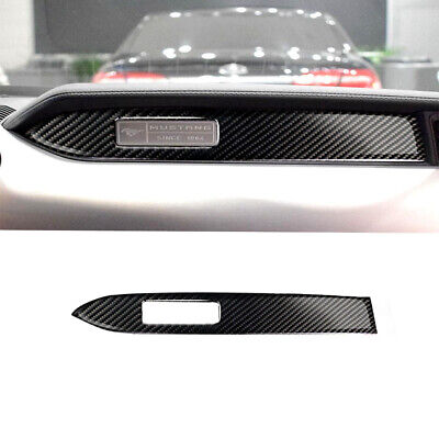 Fit For Ford Mustang 2015-2019 Carbon Fiber Interior Dashboard Panel Cover Trim  Mustang Carbon Fiber Interior