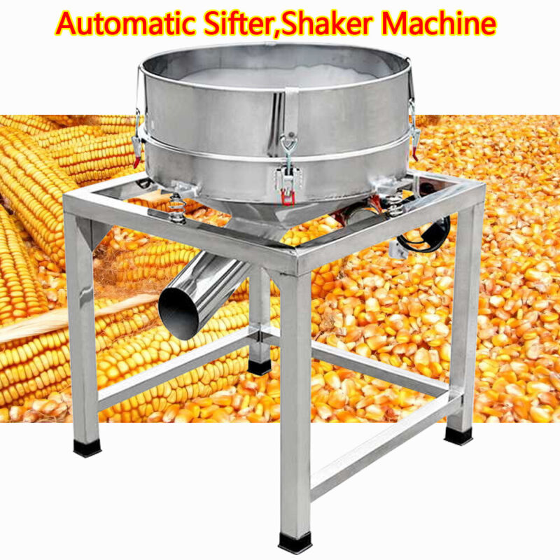 Automatic Powder Sifter Shaker Machine Flour Sieve Stainless Steel 2Screens 110V