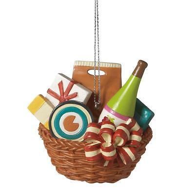 Midwest Cbk Resin Wine Basket Christmas Ornament 455326 Wine Bottle Last One