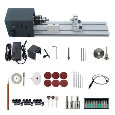 Mini Lathe Beads Machine Wood Working Diy Lathe Polishing Rotary 24vdc 80w M7j4