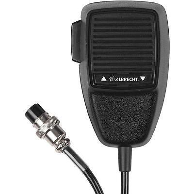 Albrecht Electret Mikrofon mit UP/Down-Taste, 6-poligem Mikrofonstecker