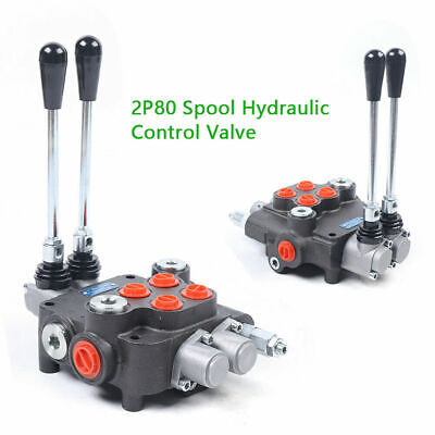 2 Spool Hydraulic Directional Control Valve 21gpm 1-6 Lever For Tractor Loader