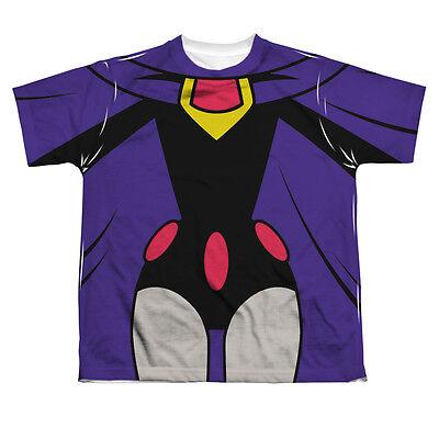 TEEN TITANS GO RAVEN COSTUME Kids Front Print Tee Shirt SM-XL BOYS SZ 6-20](Teen Titans Raven Costume)