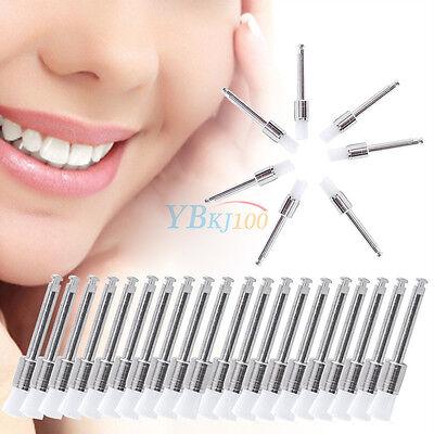 100pcs White Disposable Flat Type Dental Nylon Polishing Polisher Prophy Brush