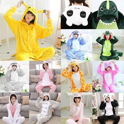 Adult Animal Costumes (Unisex Kids Adults Animal Kigurumi Pajamas Cosplay Sleepwear Costume)