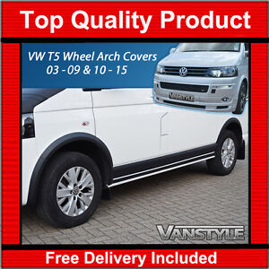 VW T5 TRANSPORTER & CARAVELLE 03-09 & 10-15 ABS WHEEL ARCH COVERS SWB & LWB
