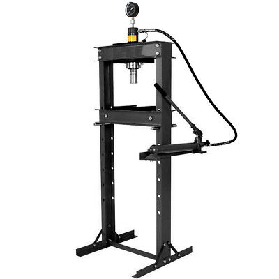20 Ton Shop Press With Hand Pump Pressure Gauge H-frame Hydraulic Equipment 41