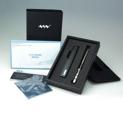 TS100 Mini Portable OLED Digital Soldering Iron BC2 Tip Interface 65W Micro USB