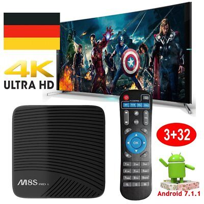 M8SPRO L 3G+32G Android 7.1 Octa core S912 TV BOX Dual WIFI 4K Media player HDMI