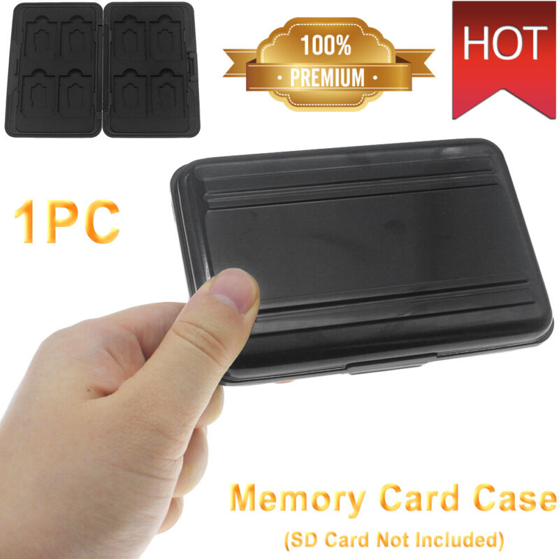 Water Resistant Holder Storage Memory Card Case Fit 8 SD+8 Micro SD TF Cards USA