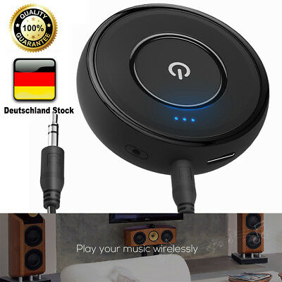 Bluetooth Audio Empfänger Wireless Musik Receiver 3.5mm Auto Stereo Aux Adapter