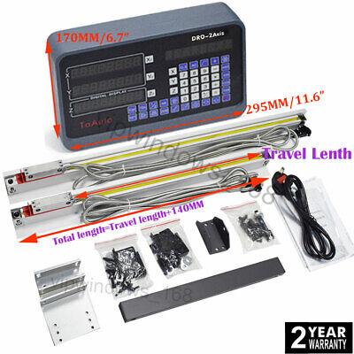 2axis Digital Readout Dro Display 2pcs Ttl Linear Scale Cnc Milling Lathe Kit