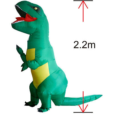 Adult T-REX Dinosaur Inflatable Costumes Purim Halloween Fancy Dress Outfit Suit, used for sale  Shipping to Canada