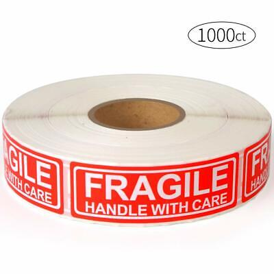 Fragile - 1x3 Handle With Care Shipping Stickers 1000 Labels Per Roll