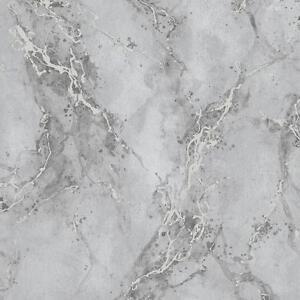 Rasch Marble Pattern Wallpaper Faux Effect Modern Metallic Glitter Motif Roll