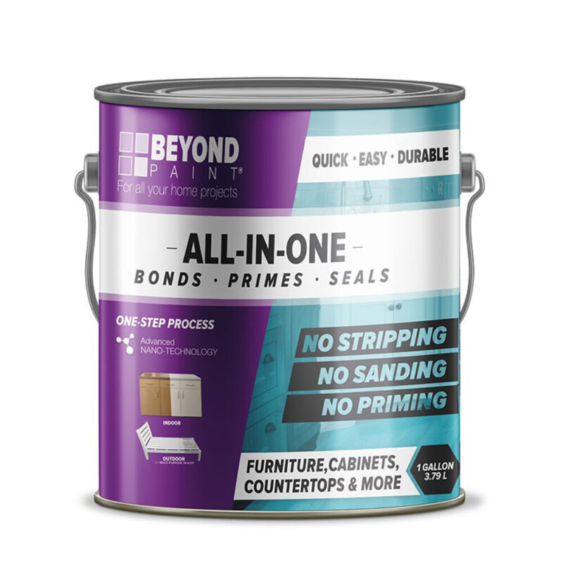Beyond Paint BP16 1 Gallon All in One Multi Use Refinishing Paint, Mocha