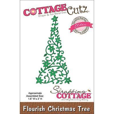 CottageCutz Elites Die ~ Flourish Christmas Tree, CCE038 ~ RETIRED PRODUCT! ()
