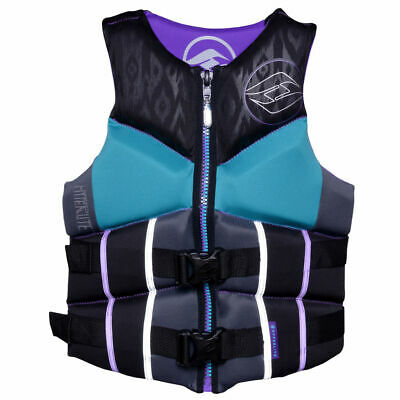 $90 Womens HIGH END Hyperlite pro V Vest Water Ski Life Jacket Ladies Black - Ladies Womens Ski Jacket