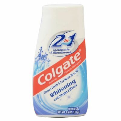 Colgate Whitening w/Stain Lifters 2 in1Toothpaste & Mouthwash Gel 4.6 oz Ex -