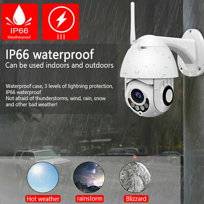 1080P WIFI IP Camera WHITE Wireless Outdoor CCTV HD Home Security IR Cam YS
