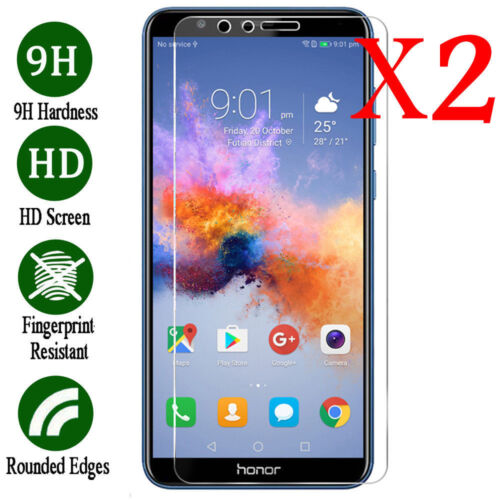 2x Premium Real Tempered Glass Screen Protector Film For Huawei Honor 6 7 8 9 10