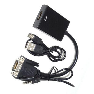 Adaptador Conversor de señal Video cable de VGA macho a HDMI Audio...