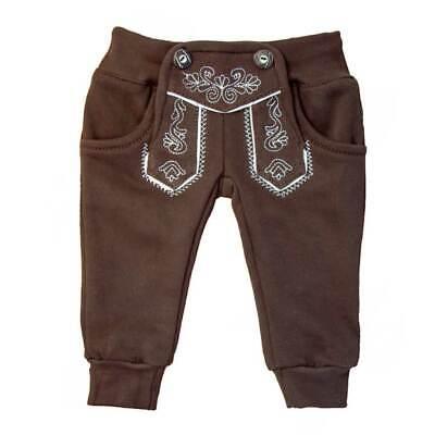 Trachten Jogginghose braun Baby Kleinkind Winterfleece oder Sommerbw MS-Trachten