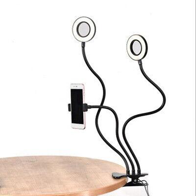 Selfie Flash Anello Luce + Porta Cellulare 24 LED Fotocamera Braccio Lungo USB