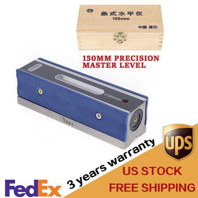 6 Heavy Duty Precision Bar Machinist Level 0.000210 Accuracy In Wooden Box