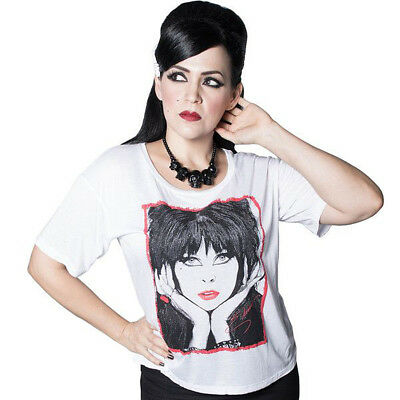 Kreepsville 666 Womens New Wave Elvira White T Shirt Vintage 1980s (1980 Womens Fashion)