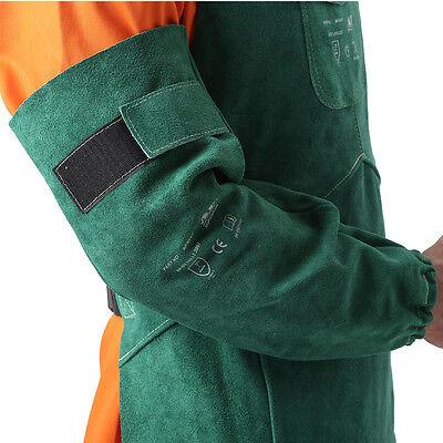 Ap-9018 New Green Heat Resistant 19 Long Split Cowhide Leather Welding Sleeves