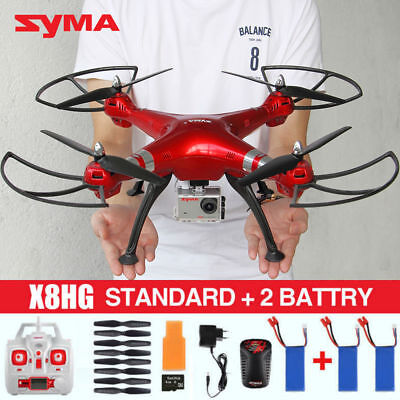 USED SYMA X8HG 8MP HD Camera 1080P RC Drone Quadcopter Altitude Hold 3 Batteries