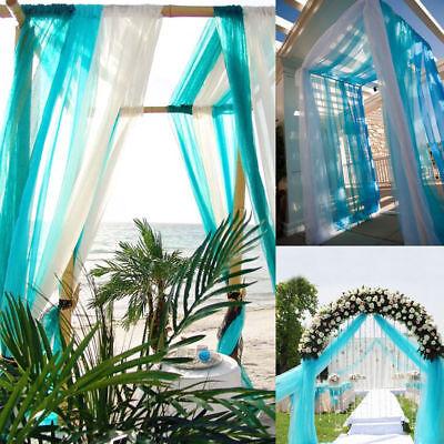 10*1.35M Peach Color Sheer DIY Fabric For Wedding Table Cover Table Chair Decor - Diy Wedding Chair Covers