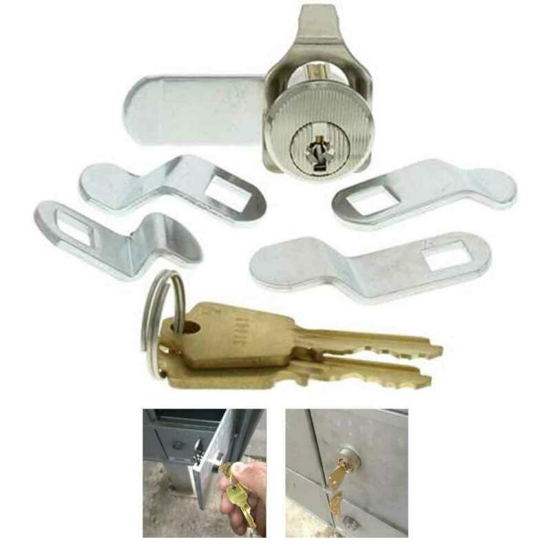 Universal Mailbox Mail Box Lock 5 Cam Keyed Locks Cabinets Drawer Locking Tool
