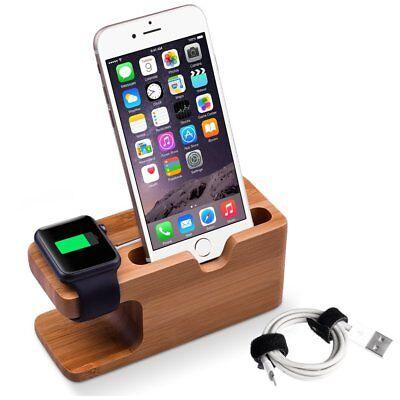 Bambus LadeStation Halterung Für Apple Watch iPhone Tischständer Dockingstation Docking Station Für Iphone
