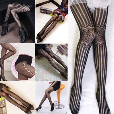 Girls Black Women Sexy Fishnet Stockings Pantyhose Jacquard Pattern - Fishnet Stockings Girls