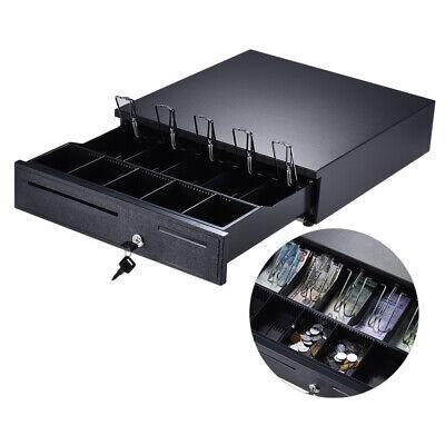 Heavy Duty Electronic Cash Drawer Box Case Storage 5 Billcoin Trays Check Y7j5