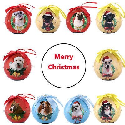 Dog Collection Light Up Ball Christmas Ornaments Baubles Xmas Tree Hanging Decor (Light Up Hanging Balls)