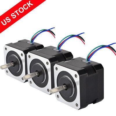 3pcs Stepper Motor Nema 17 37oz.in 0.4a 4-wire 12v 3d Pinter Reprap Arduino Cnc