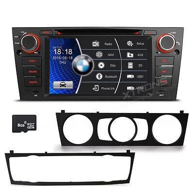 """7"""" Bildschirm Autoradio für BMW 3er E90 E91 E92 E93 Bluetooth GPS Navi DVD MP3"""