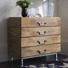 BRAND NEW Winchester Contemporary Chest Of Drawers from ATKIN & THYME - MANGO WOOD