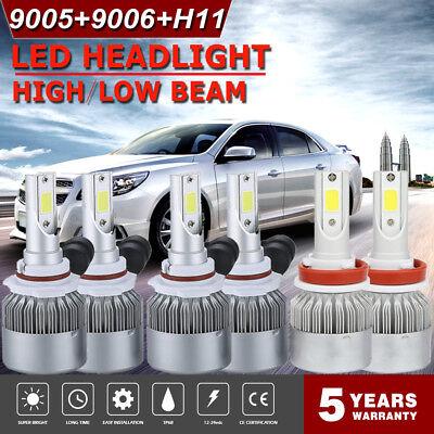 CREE 9005 + H11 + 9006 LED Headlight Kit 4100W 585000LM Combo Hi/Low Beam Bulbs